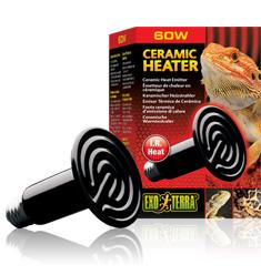 Exo Terra Ceramic Heat Lamp 60 w-basking lamp-Lincs Aquatics Ltd