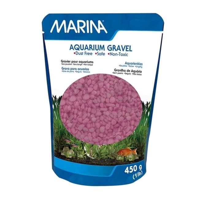 Marina Decorative Aquarium Gravel Pink 450g-Substrates-Lincs Aquatics Ltd