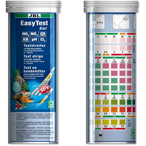 JBL EasyTest 6in1 Dip Test Strips