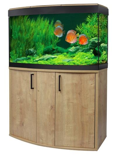 Fluval Vicenza 180 LED Aquarium and Cabinet Oak