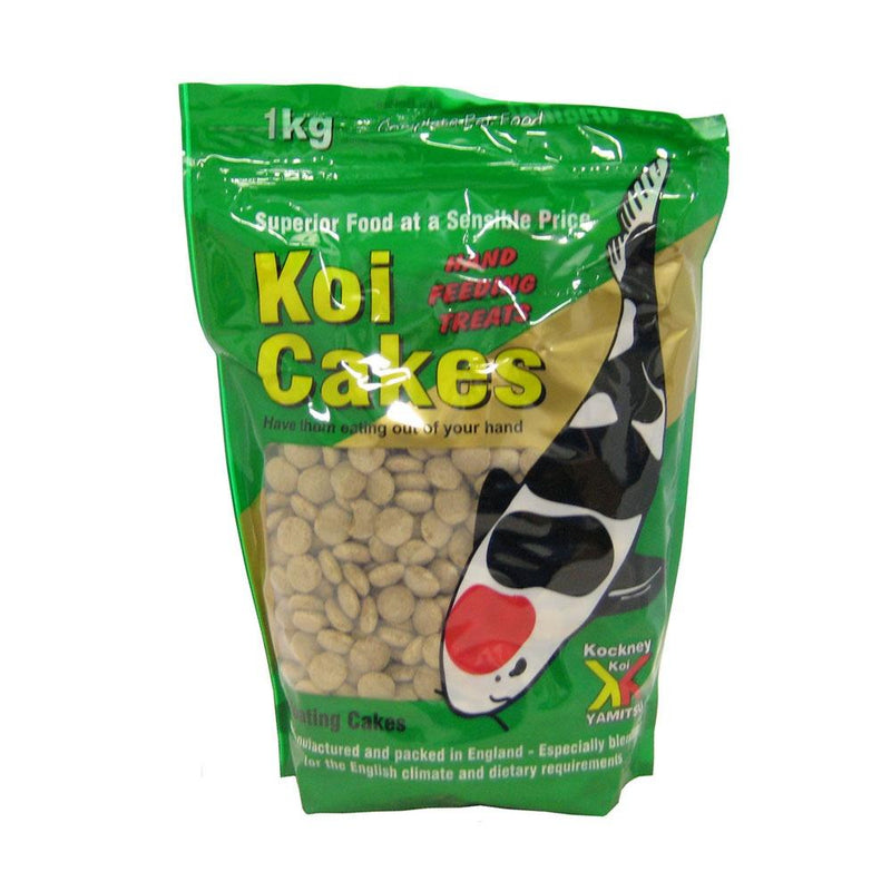 Kockney Koi koi cakes 1kg-KOCKNEY KOI FOOD-Lincs Aquatics Ltd