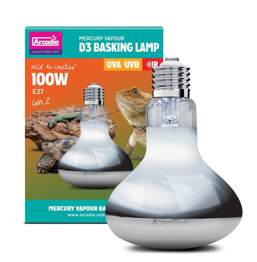 Arcadia D3 UV Basking Lamp 100w-Arcadia UV Bulbs-Lincs Aquatics Ltd