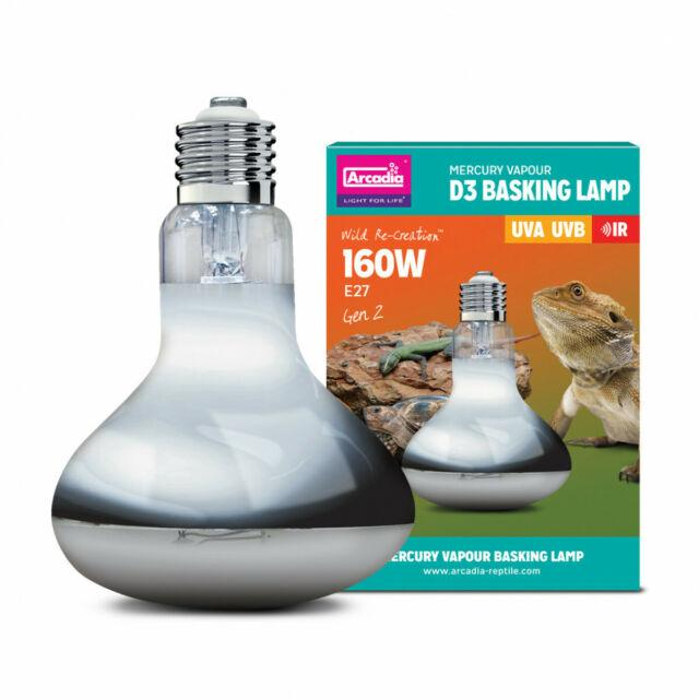Arcadia D3 UV Basking Lamp 160w-Arcadia UV Bulbs-Lincs Aquatics Ltd