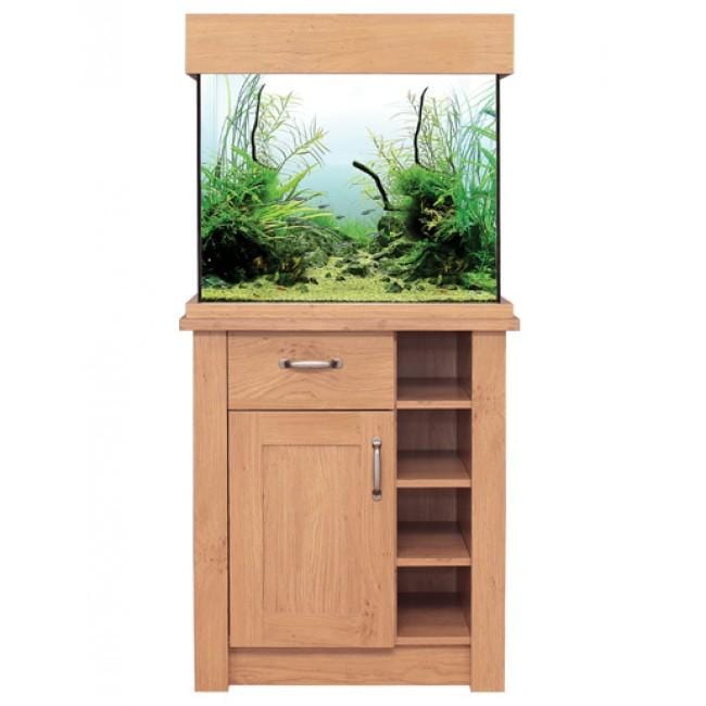 Aqua One Oak Style 110 Aquarium & Cabinet-Oak Style-Lincs Aquatics Ltd