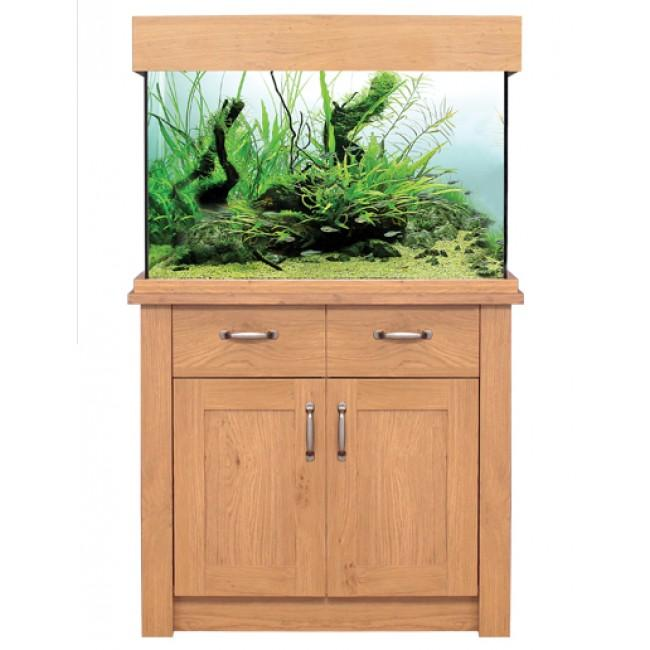 Aqua One Oak Style 145 Aquarium & Cabinet-Oak Style-Lincs Aquatics Ltd