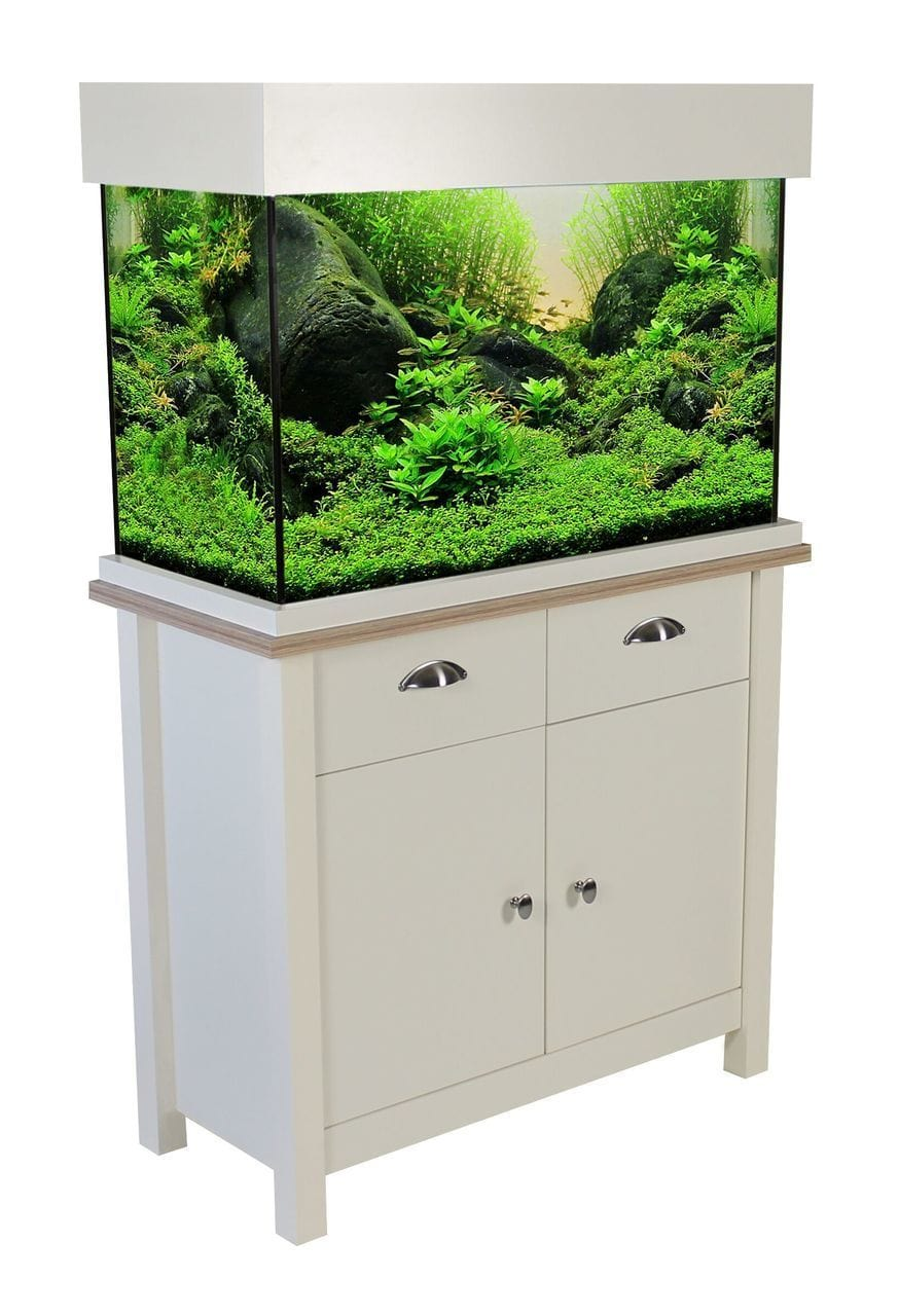 Aqua One Oak Style 145 Aquarium & Cabinet - Soft White-Oak Style-Lincs Aquatics Ltd