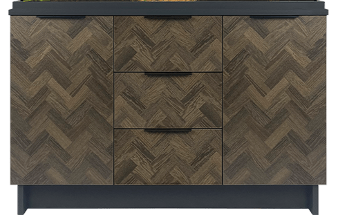 Oakstyle Parquet Collection 230L Cabinet Only