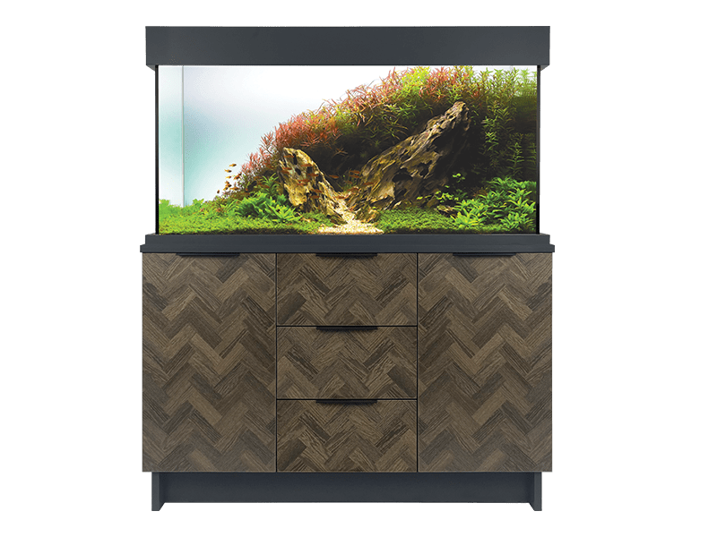 Oakstyle Parquet Collection 230L Tank and Cabinet