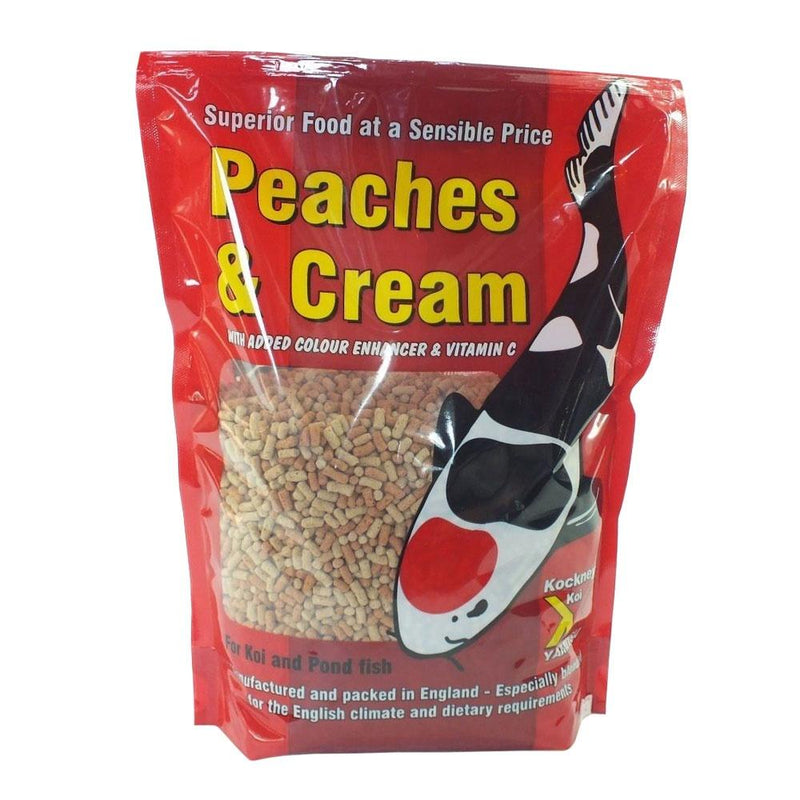 Kockney Koi Peaches and Cream Fish Food 2.5 kg-KOCKNEY KOI FOOD-Lincs Aquatics Ltd