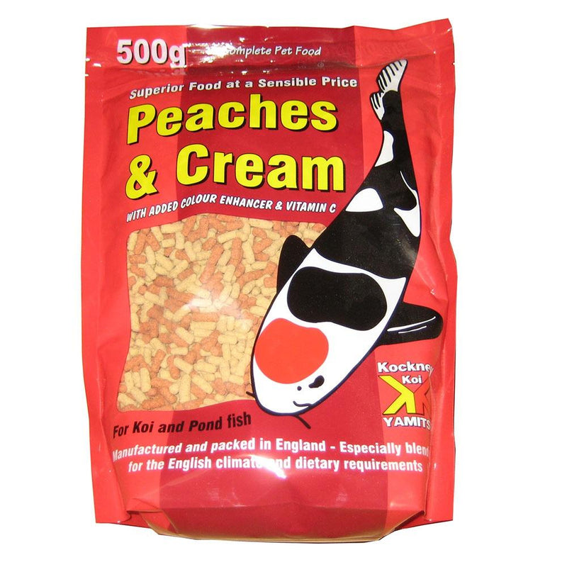 Kockney Koi Peaches and Cream Fish Food 500g-KOCKNEY KOI FOOD-Lincs Aquatics Ltd