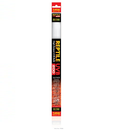 "Exo Terra Fluorescent Bulb UVB 200 Light Tube 14w 15""-Exo terra UV Tubes-Lincs Aquatics Ltd"