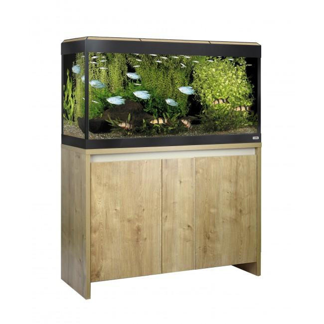 Fluval Roma 200 NEW Bluetooth LED Aquarium and Cabinet Oak-Hagen-Lincs Aquatics Ltd