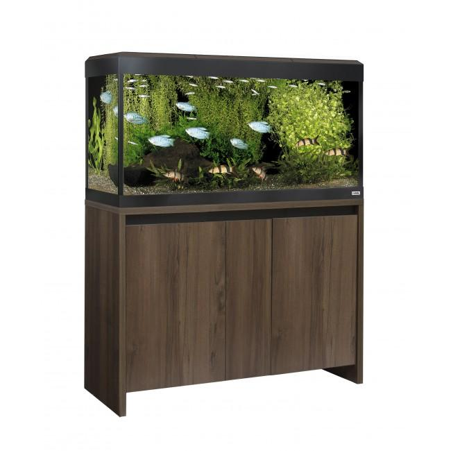 Fluval Roma 200 LED Aquarium and Cabinet Walnut