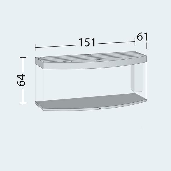 CLEARANCE Juwel Vision 450 aquarium Tropical fish tank inc cabinet-Clearance Aquariums-Lincs Aquatics Ltd