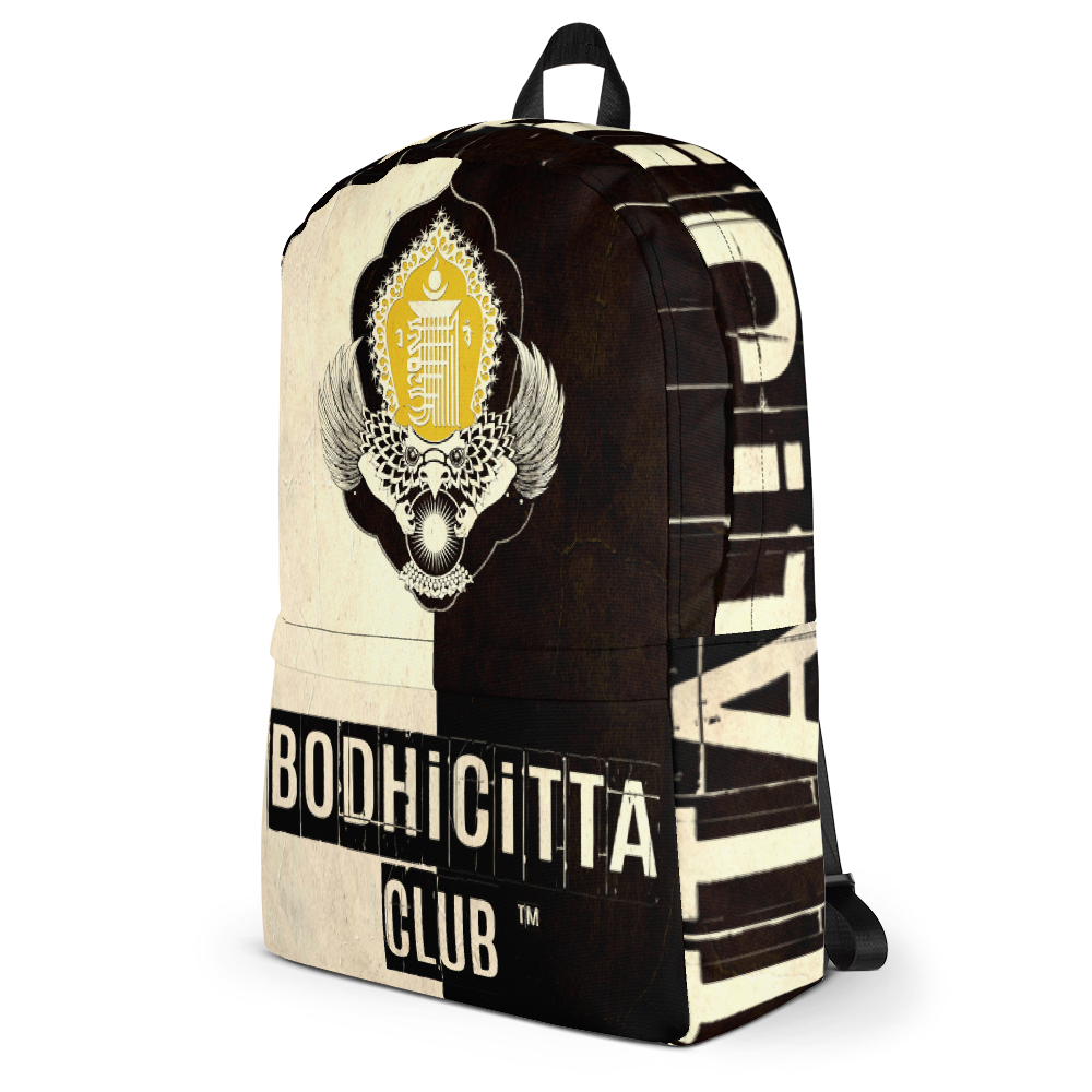 BODHICITTA CLUB BLACK WHITE VINTAGE : Backpack