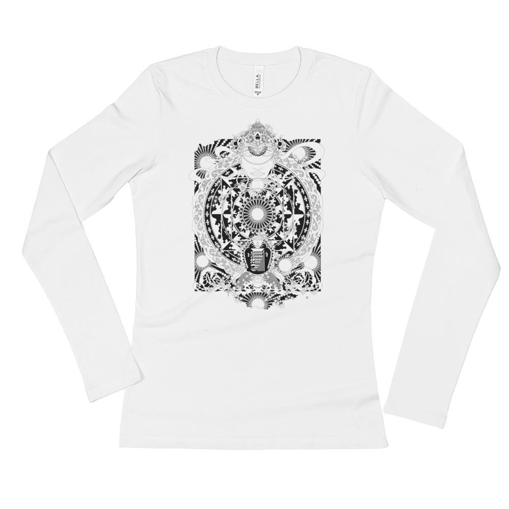 MEDITATION : Ladies' Long Sleeve T-Shirt