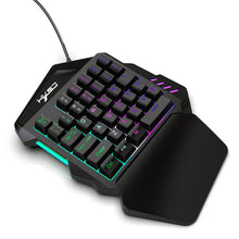 One Handed RGB Mechanical Gaming Keyboard LED Left Hand Mini 35 keycaps for Gaming