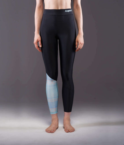 ILLUSION WOMEN'S LEGGINGS BLACK/BLUE