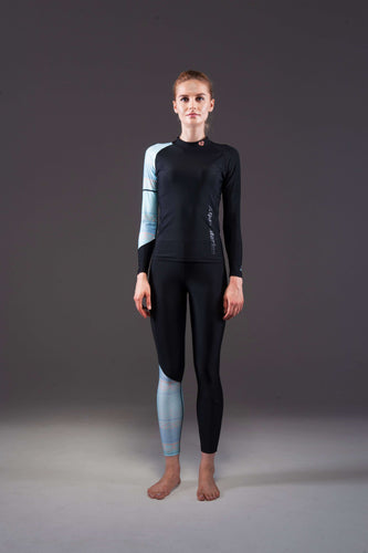 ILLUSION LS Women's Rashguard Black/ Green