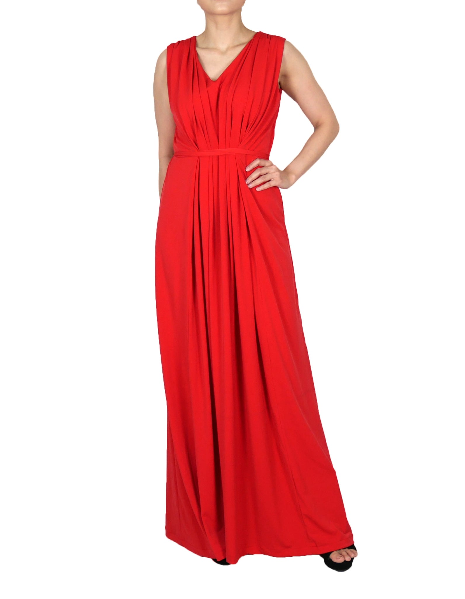 1144ceefd6a5a Long Formal Dresses Sleeveless plain color Red – MERLOT