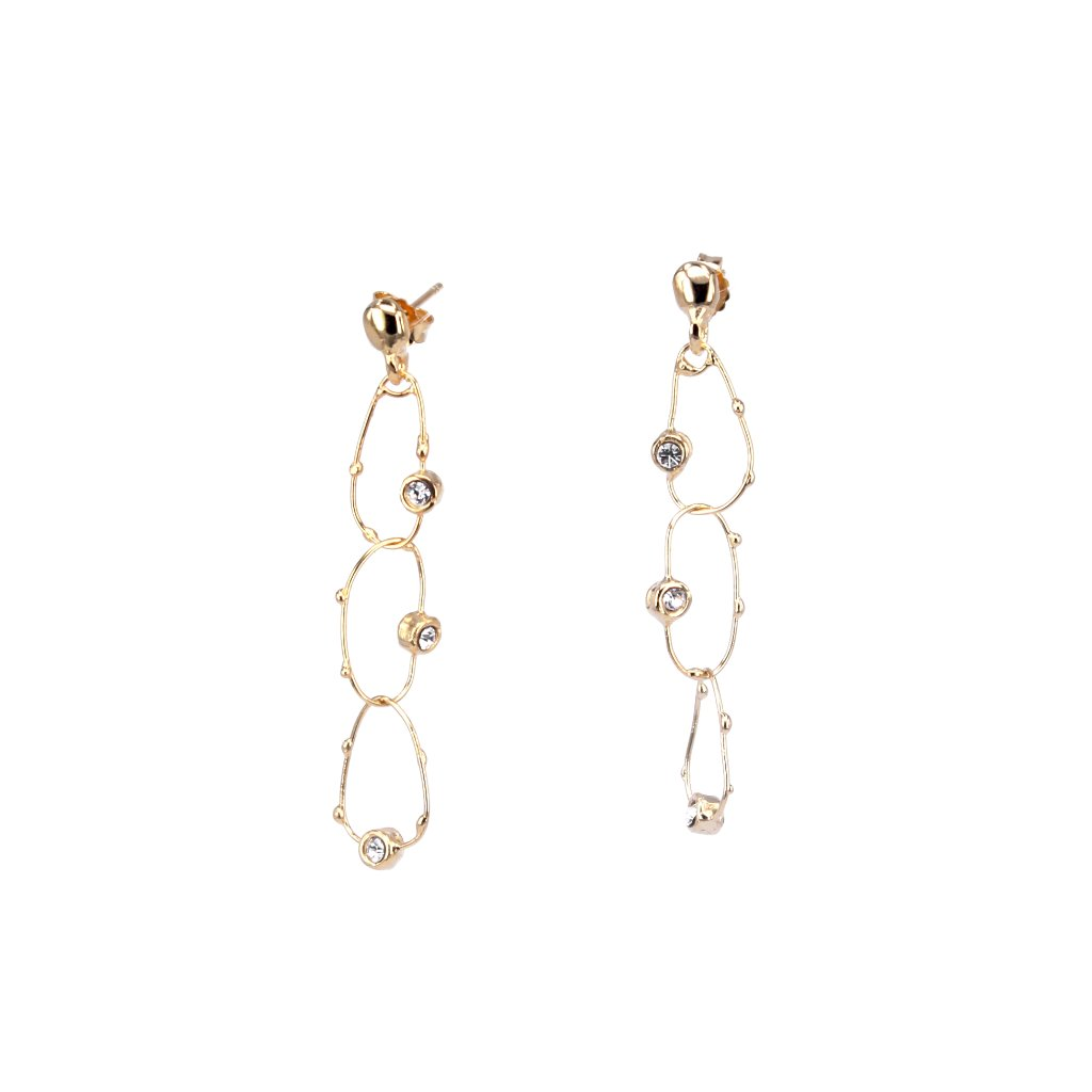 DEWDROP TIERED EARRINGS