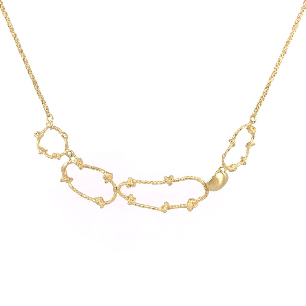 LINKED ASYMMETRIC NECKLACE