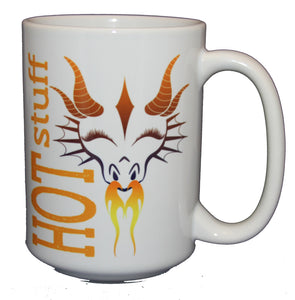 Hot Stuff Dragon Coffee Mug - Gift for Her - Larger 15oz Size