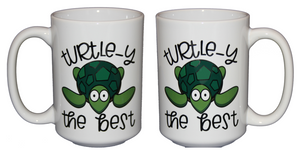Turtley the Best - Funny Silly Turtle Reptile Puns Coffee Mug - Larger 15oz Size