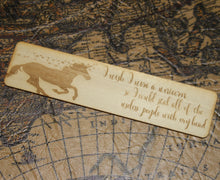Unicorn Useless People Funny Wooden Bookmark - Inappropriate Dark Humor - Magical Creature Gift