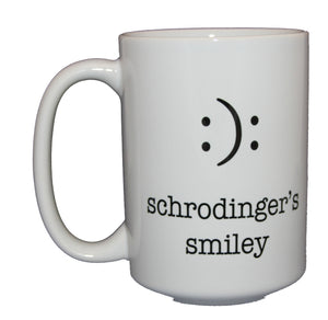 Schrodinger's Smiley - Cute Funny Emoticon Coffee Mug - Larger 15oz Size