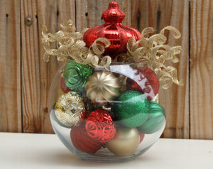 """Kissed with Gold"" Christmas Ornament Centerpiece"