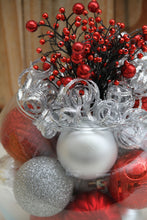 """All That Glitters in Red and Silver"" Christmas Centerpiece"