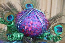 """Peacock Perfection"" Feathered Christmas Table Decor"