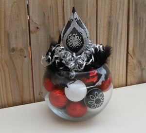 """A Formal Affair"" - Black and White Holiday New Years Wedding Centerpiece"