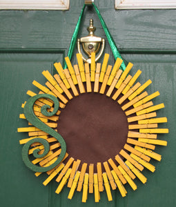 Monogrammed Summer Sunflower Wreath