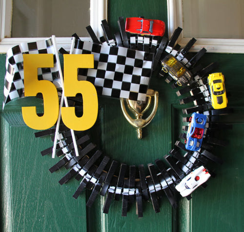 Handmade Nascar Racing Wreath with your Choice of Car Number