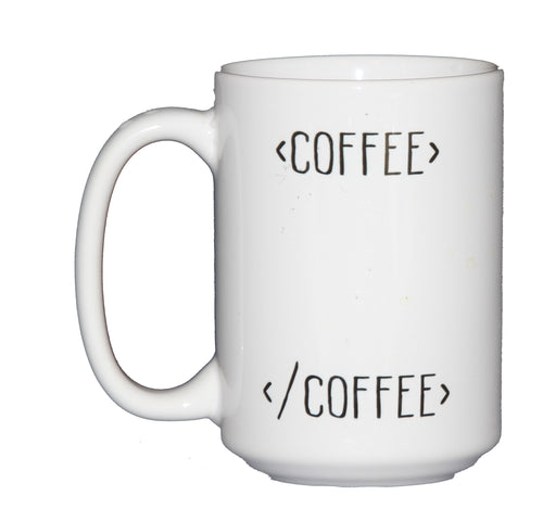 Begin Coffee End Coffee Mug HTML for Web Developers