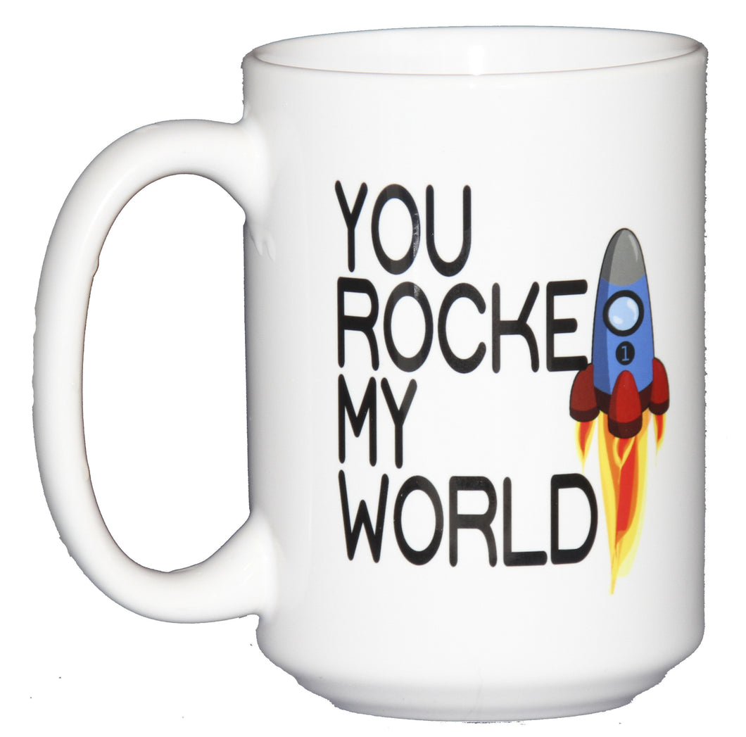 You ROCKET My World Funny Romantic Coffee Mug for Astronauts and Space Lovers