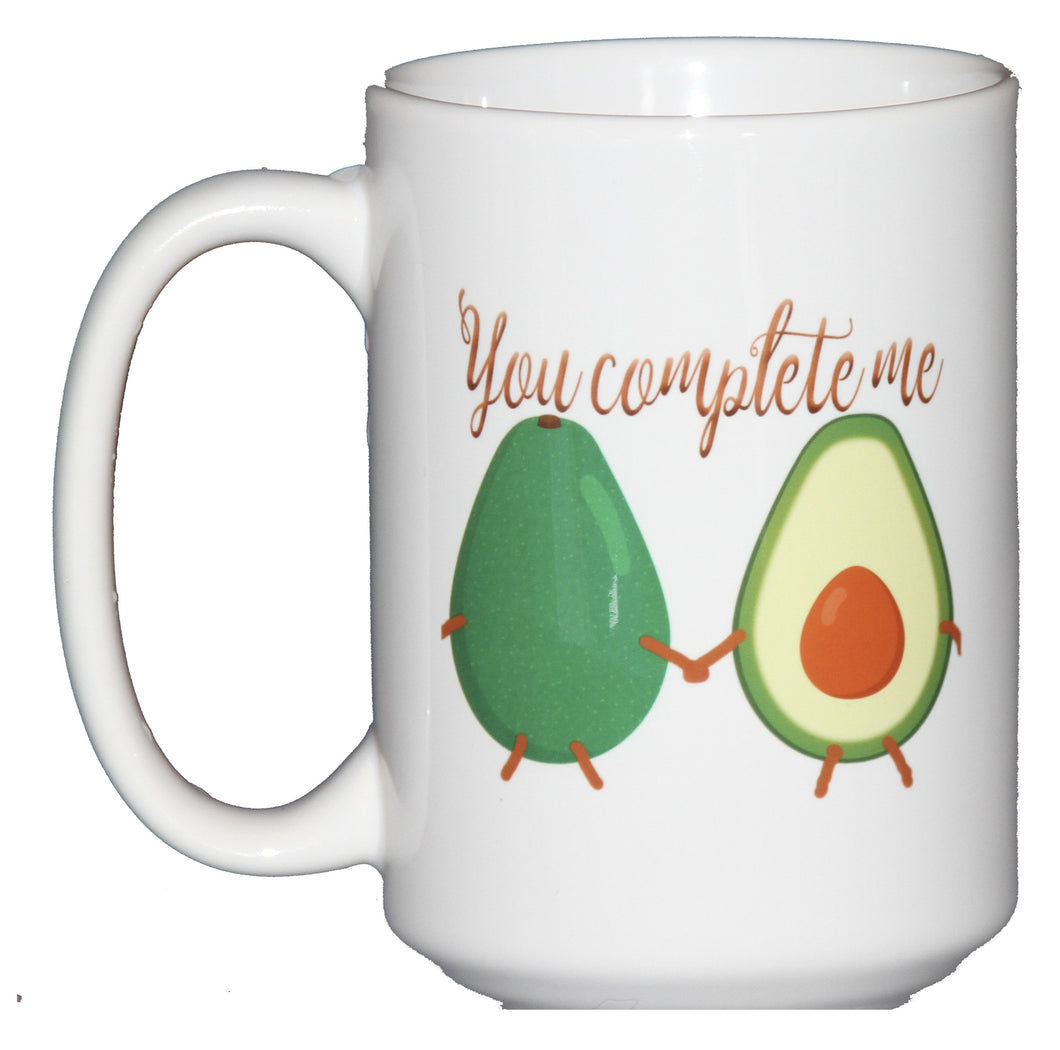 You Complete Me - Avocado Vegetable Humor Coffee Mug