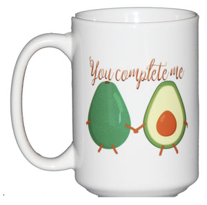 SECOND STRING You Complete Me - Avocado Vegetable Humor Coffee Mug