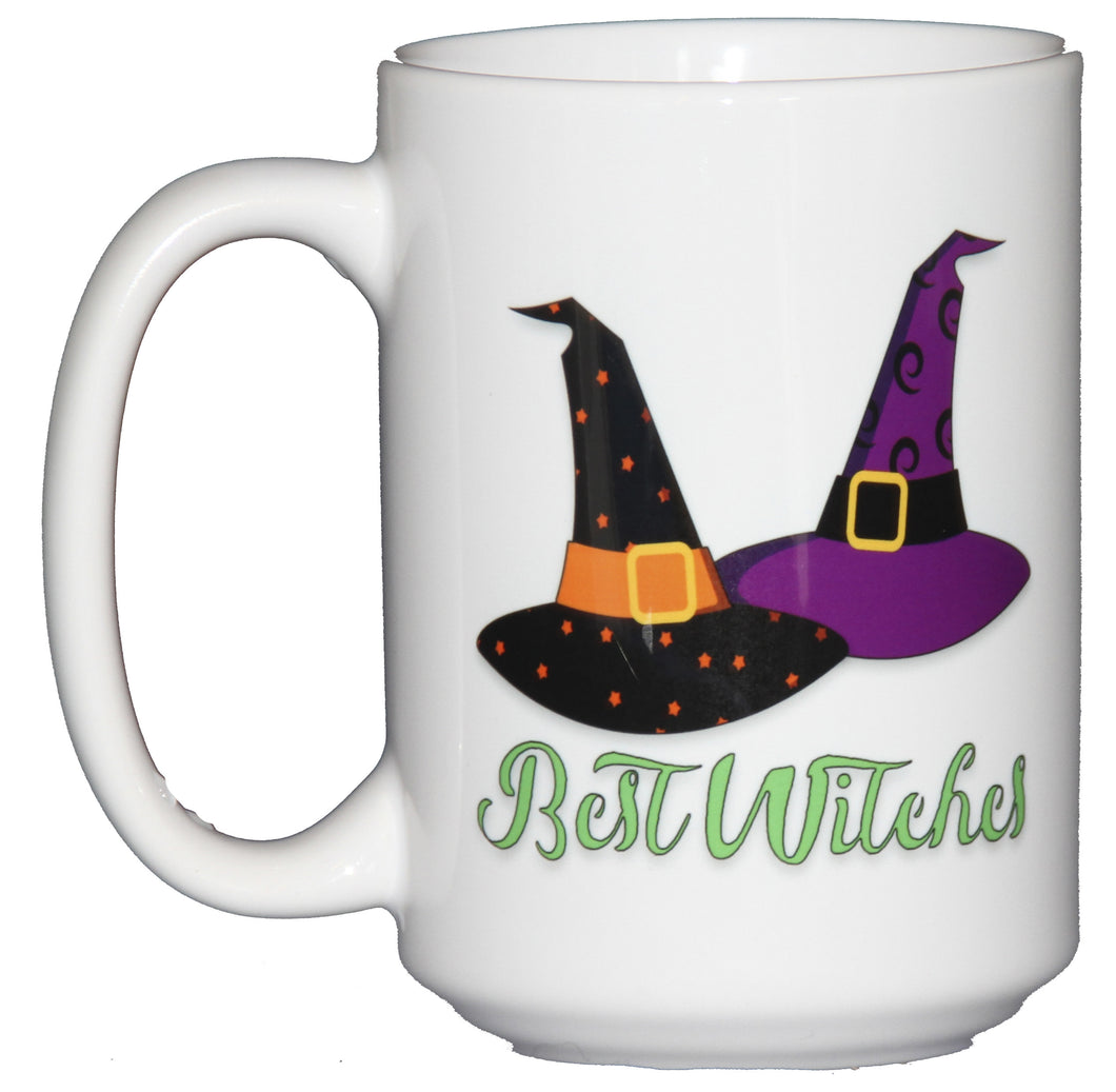 Best Witches Halloween Hats Coffee Mugs for BFFs and Besties