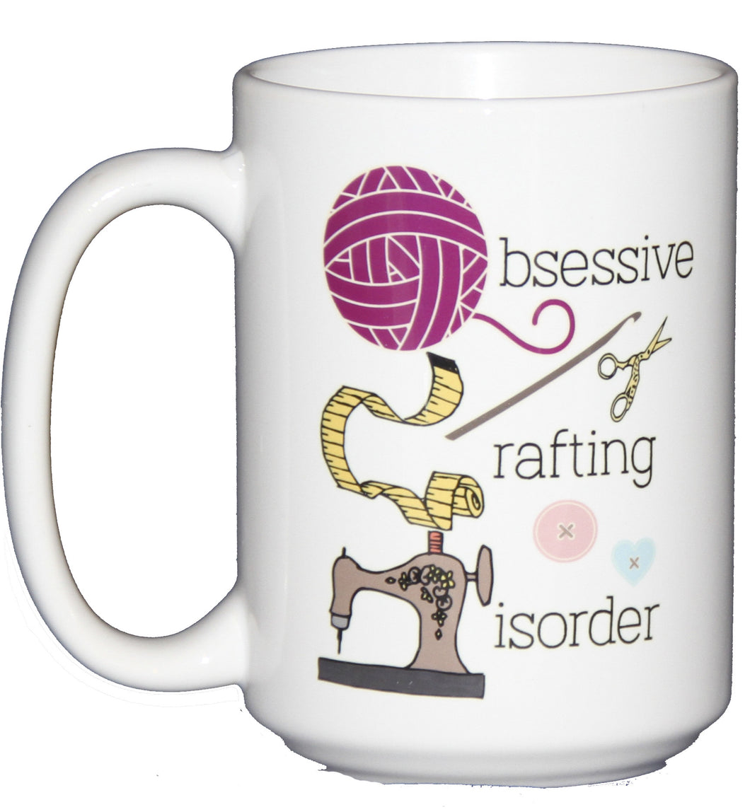 OCD Obsessive Crafting Disorder - Funny Coffee Mug for Crafters