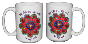 She Believed She Could So She Did - Inspirational Girl Power Coffee Mug