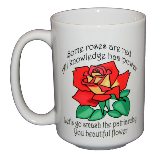 SECOND STRING Smash the Patriarchy Poem - Inspirational Girl Power Coffee Mug - Larger 15oz Size