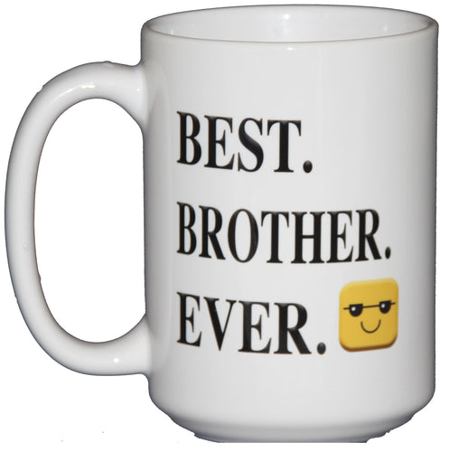 15oz BEST. BROTHER. EVER. - Cool Emoticon Coffee Mug Gift