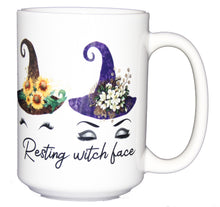 Resting Witch Face - Cute Coffee Mugs for Halloween - Larger 15oz Size