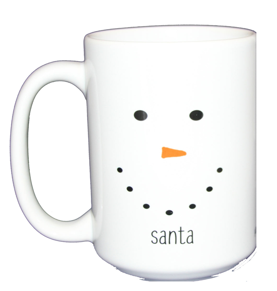 Santa Snowman Milk Mug - Cute Christmas Coffee Cocoa Hostess Gift  - Larger 15oz Size