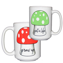 Grow Up - Get a Life Mug - Gift for Video Game Geeks - Larger 15oz Size