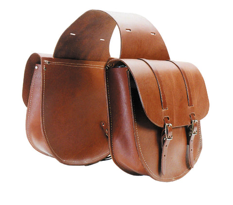 Extra Large Leather Saddle Bags