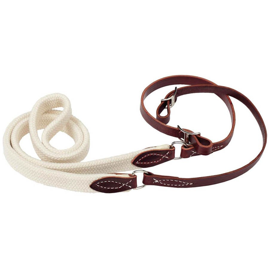 Braided Rope Center Latigo Roper/Contest Rein - 8'